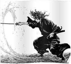 20 Rules Of Life Written By a Japanese Samurai 400 Years Ago That May Change Your Life Vagabond Manga, Manga Art, Manga Anime, Anime Art, Ronin Samurai, Inoue Takehiko, Samurai Artwork, Miyamoto Musashi, Samurai Tattoo