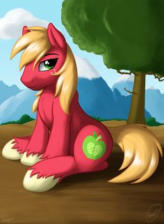 Big Mac~ by skipsypony on DeviantArt Big Macintosh, Mlp Fan Art, Little Poney, My Little Pony Friendship, Rainbow Dash, Stargazing, Animation, Deviantart, Cartoon
