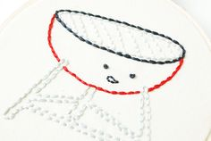 Grumpy Grill Free Embroidery Pattern by wildolive, via Flickr