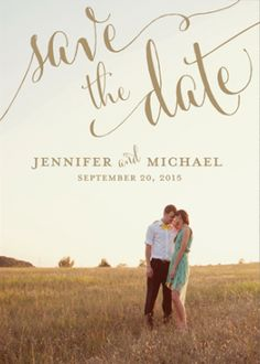 A personalized save-the-date card with your photo on it | Brides.com