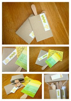DIY custom popsicles / ice cream picnic invitation