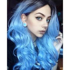 Gorgeous blue wavy wig , you @lastfeastofthewolves rock this wig capless wig…