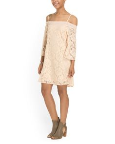 Cotton Blend Lace Dress - View All - T.J.Maxx