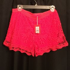 New! Never worn w/tags! Super cute coral lace shorts. Never been worn. Would look great causal or dressed up with some wedges. Mossimo Supply Co. Shorts