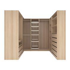PAX Corner wardrobe - white stained oak effect, Forsand Vikedal - IKEA Ikea Pax Corner Wardrobe, Sliding Wardrobe, Walk In Wardrobe, Wardrobe Design Bedroom, Closet Bedroom, Bathroom Closet, Corner Closet Organizer, Pax Planer, Armoire D'angle