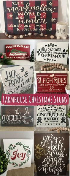 Farmhouse Christmas Signs
