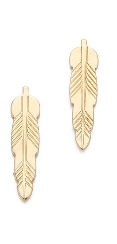 Bing Bang | Feather Stud Earrings
