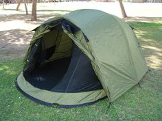 3-Person Pop Up Tent With Rain Fly | Steel Frame | Weather Protection