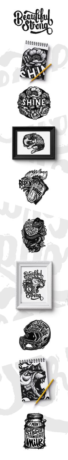 Black Illustration - typography
