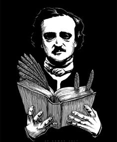 Storytime with Edgar Allan Poe by on DeviantArt Edgar Allan Poe Works, Edgar Allen Poe, Memes Arte, Poe Quotes, Goth Art, American Literature, Charles Bukowski, Story Time, Macabre