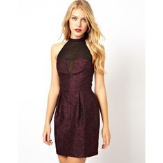 ASOS Bonded Lace Organza Prom Dress