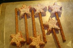 I like these wands even better with the edible pretzel sticks