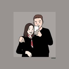 Cute Couple Drawings, Cute Couple Art, Cute Drawings, Couple Illustration, Graphic Design Illustration, Illustration Art, Cartoon Drawings, Cartoon Art, Cartoon Wallpaper