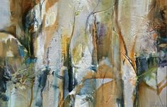 """Contemporary Artists of Colorado: Contemporary Abstract Painting """"Remnants of Summer"""" by Intuitive Artist Joan Fullerton"""