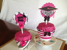 Zebra Print Graduation Cupcake Wrappers and by michellerylands, $19.50