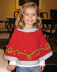 Ravelry: Child's Holiday Capelette pattern by Jil Eaton size 2,4,6 Classic Elite
