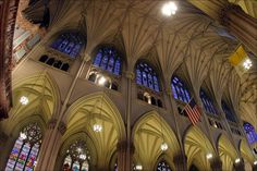 Ceiling of St. Patrick's Cathedral on 5th Ave. between 50th and 51st streets, New York City, photo by Declan McCullagh Photography