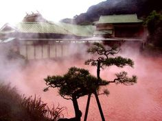 """Beppu, 別府市 is a city located in Ōita Prefecture on the island of Kyushu, Japan, at the west end of Beppu Bay. Beppu contains eight major geothermal hot spots, which are sometimes referred to as the """"eight hells of Beppu"""". Six of these are located in the Kannawa district, and two in the more remote Shibaseki district. Beppu is also divided into eight major hot spring areas known as Beppu Hattō"""