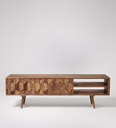 Swoon Editions Zabel media unit Do you think this would look OK with an Oak wooden floor?