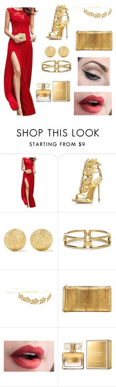 """""""Red and Gold"""" by gabydesigner on Polyvore featuring Giuseppe Zanotti, Carolina Bucci, Sole Society, Tom Ford, Mehron and Givenchy"""