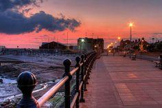 West Kirby, Wirral. Promenade at dawn