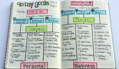 Do you need help setting and achieving goals? Follow this process for setting 90 day goals in your bullet journal! Free printables!