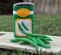 Felted green beans