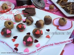 """""""Cookie Dough Balls Dipped in Chocolate."""" Raw and Vegan. PERFECT for #ValentinesDay!  www.monimeals.com #monimeals"""
