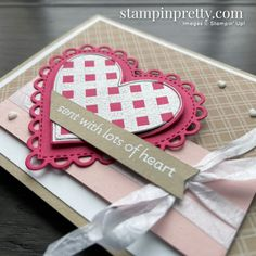 Valentine Greeting Cards, Valentines, Mary Fish, Mini Sales, Stampin Pretty, Promotional Design, Friendship Cards, Heart Cards, Paper Pumpkin