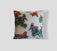 Parrots Pillow Parrots Pattern 16x16 Pillow Decorative