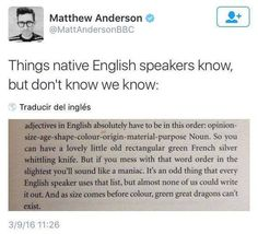 Things native english speakers know, but don't know we know.