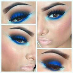 Blue Eye Makeup for Brown Eyes - Magnificent!