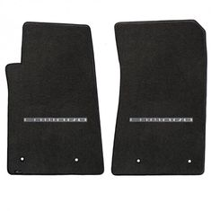 Camaro 2010-2015 2Pc Mats Ebony Velourtex Camaro Logo. A popular priced original equipment replacement mat with a heavier, denser face than factory mats. Velourtex provides outstanding value, with a silky smooth texture, created from premium nylon yarn. Velourtex features the same multi-layer backing as Lloyd's higher priced custom mat products, designed specifically for automotive use. Our backings feature moisture resistance, stiffness to maintain the mat shape and skid-resistance due to…