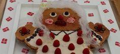 Hindbærsnitte kagekone