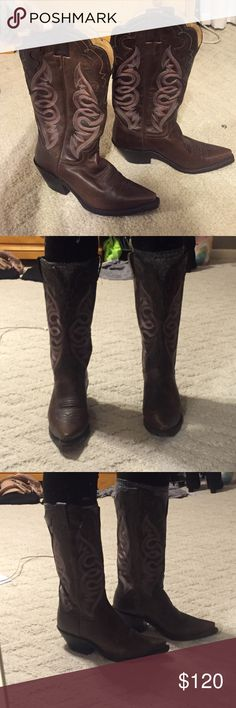 Authentic Cowboy Boots Only wore once! Some scuffs from the one time wear/storage. Still great condition! Justin Boots Shoes Heeled Boots