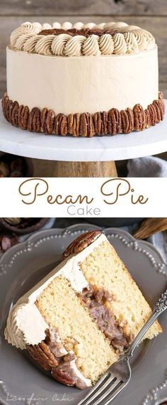 Home Made Doggy Foodstuff FAQ's And Ideas This Pecan Pie Cake Is Perfect For Your Holiday Get-Togethers Brown Sugar Cake Layers And Buttercream Filled With Traditional Pecan Pie Filling. By means of Livforcake Just Desserts, Delicious Desserts, Pecan Pie Cake, Pecan Pie Cupcakes, Pecan Pies, Apple Pies, Brown Sugar Cakes, Dessert Aux Fruits, Cake Toppers