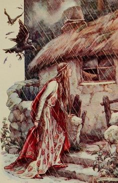 Florimell finds the cottage of the witch in the gloomy glen