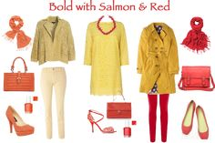 How to wear yellow - go bold with salmon or red…