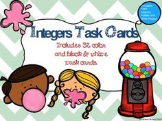 Integer Task Cards
