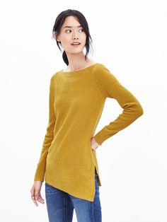 nwt banana republic yellow merino wool Asymetrical pullover sweater small in Clothing, Shoes & Accessories,Women's Clothing,Sweaters   eBay