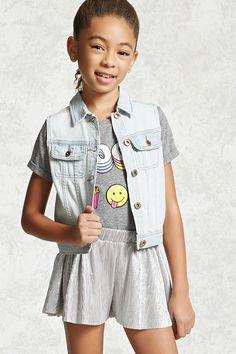 Girls Denim Vest (Kids) | Forever 21 girls - 2000221921
