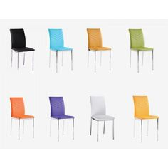 Carina PU Chairs Chrome Dining Room Furniture, Dining Chairs, Orange, Yellow, Blue Green, High Quality Furniture, Heartland, Chrome, Purple