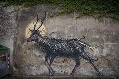 Spraypainted Street Art by DALeast Looks Like Three Dimensional ...