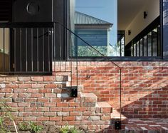 Paddington House is a private residence recently completed by Brisbane-based Kieron Gait Architects. The idea of the long hallway connects . Architecture Awards, Residential Architecture, Architecture Details, Brick Mailbox, Brisbane Architects, External Staircase, Street House, Architect House, House Extensions
