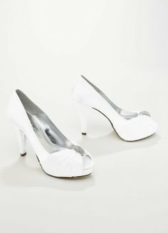 Wedding & Bridesmaid Shoes Charmeuse Pleated Peep Toe with Ornament White David's Bridal,http://www.amazon.com/dp/B006JZ2XBO/ref=cm_sw_r_pi_dp_Nb-ctb0TTSYCZ3SW