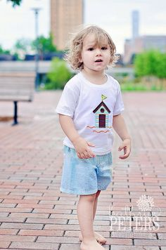 Shorts and t-shirts are a great way to let your little one run around all day without getting too hot.