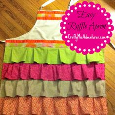 Easy Ruffle Apron Tutorial...easy because she starts with an inexpensive plain apron and she shows you how to add the ruffles, love this!