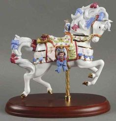 Carousel Statues:  Lenox Christmas Carousel Animals Carousel Horse 2008