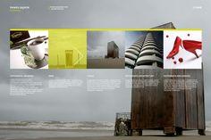 Paweł Gąsior website by Studio 39DEG Jarek Nakielny, via Behance