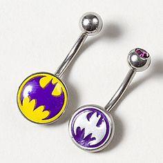 14G Batgirl Belly Ring Set of 2  @Molly Shumaker